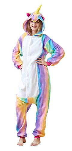 Mybei Adults Unicorn Animal Pajamas Onesie Onepiece Cosplay
