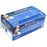 Livingstone Premium Face Mask, Ear Loop, 3-Ply, Blue, Submicron Particle and Bacterial Filtration Efficiency Rate 99%, Latex Free, Meets Aust Standard 4381, 50 per Box