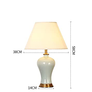 WCUI Retro Keramik Schreibtisch Lampe, Schlafzimmer Nachttisch Lampe ...