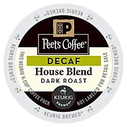 Peet's Coffee Decaf House Blend Coffee K-Cup Pods, 2.8 Oz, Pack Of 22 - K-cups 22 Count