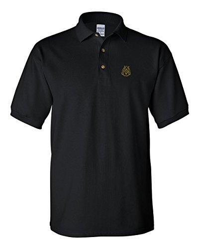 Speedy Pros Arrowhead Embroidery Polo Shirt Golf Shirt - Black, X Large