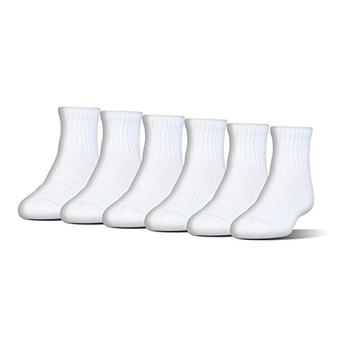 Under Armour UA Charged Cotton 2.0 Quarter – 6-Pack MD White