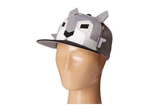 (San Diego Hat Company Kid's Geometric Animal Cap, Wolf, L)