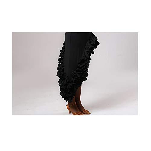 Adulti Ballo Ragazze Nero Per Gli Professionale Ztxy Asimmetrica Orlo Donne Abiti Irregolare Ballerini Vestito Le Costume Latino Da qnP8E