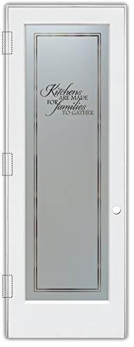 Pantry Door Family Kitchen Sandblast Etched Glass Door