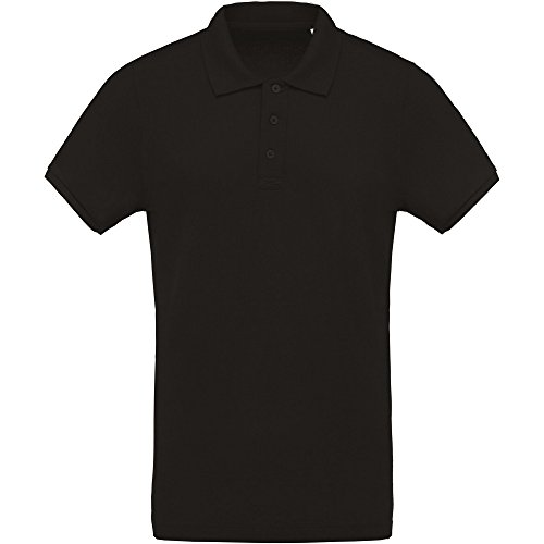 Organic Pique Polo Shirt - Kariban Mens Organic Pique Polo Shirt (M) (Black)