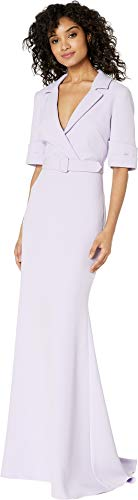 Badgley Mischka Women's Sleeve Detail Shirtdress Lilac 8