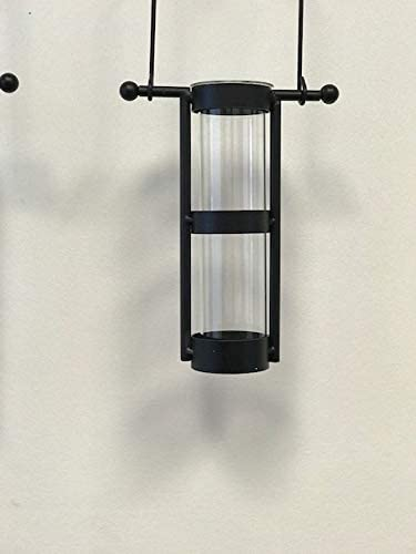 Flamingo /& Pine Modern Home D/écor Wall Mount Hanging Glass Cylinder Vase Set with Metal Cradle and Hook