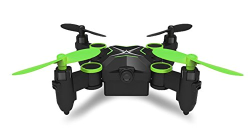 Heliway 901HS Mini Foldable Pocket Drone Quadcopter WiFi, Live HD Camera, 2.4GHz 6CH 6-axis Gyro, Altitude Hold (Green) by Heliway Toys