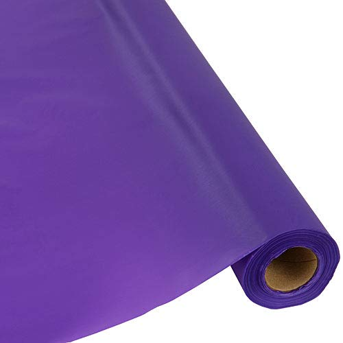 (Table Mate Plastic Party Banquet Table Cover Roll - 300 ft. x 40 in. - Disposable Tablecloth (Purple))