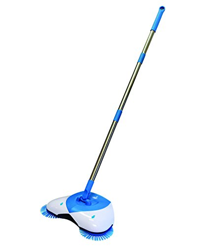 Hurricane Spin Broom by BulbHead – As Seen on TV- Original Lightweight. Cordless Spinning Broom for Sweeping Hard Surfaces like Wood, Tile, and Laminate