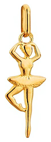 Lucas Lucor - P1745 : Pendentif Femme Or 18K jaune - Danseuse Ballerine