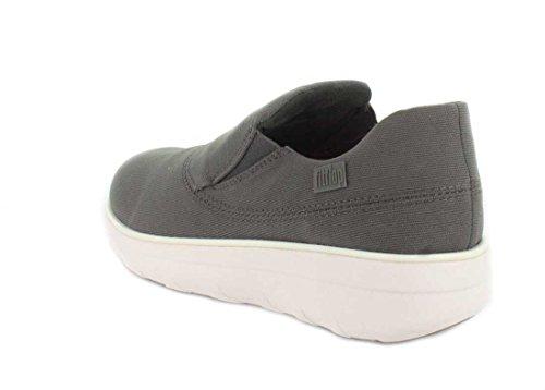 Womens Fitflop Loaff Sportiva Slip-on Sneaker Carbone