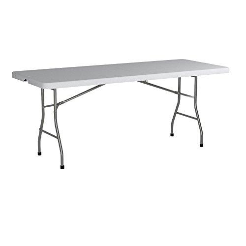Office Star Resin Multipurpose Rectangle Table, 6 Feet, Center Folding