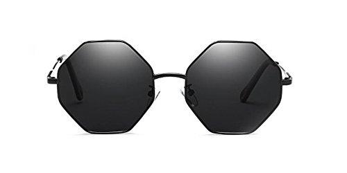 Noir inspirées en A rond du Frêne Morceau retro polarisées métallique de de vintage soleil style cercle Lennon lunettes qzwaRxFR