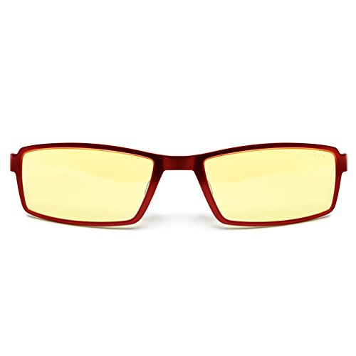 Gunnar Optiks S6127-2-C002 Wi-Five Full Rim Compact Ergonomic Advanced Computer Glasses with Amber Lens Tint, Espresso Frame Finish