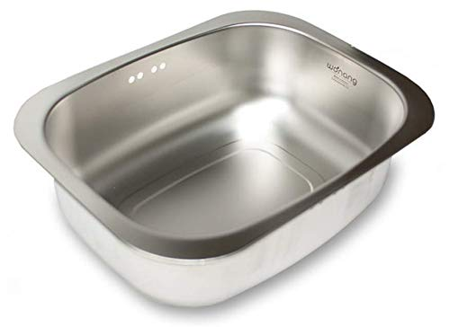 WANANG Stainless Steel Washing-up Bowl Multi-purpose Dish Tub for Sink/Wash Basins/Dishpan for Sink