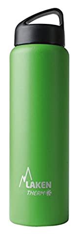 Laken Thermo Classic Vacuum Insulated Stainless Steel Water Bottle Wide Mouth - 34 oz, Green