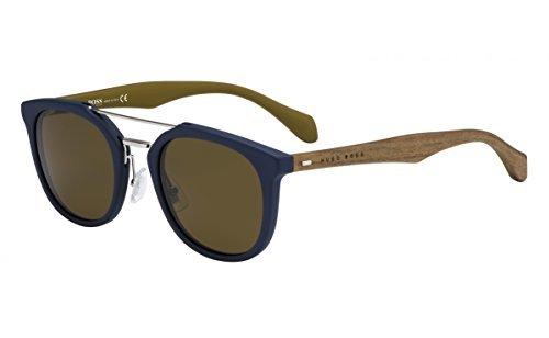 cdb18ae32ca BOSS Hugo 0777 S EC Montures de lunettes Bleu (Bluette Brown)