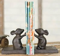 Decorative Mice Bookends - Bookends Church