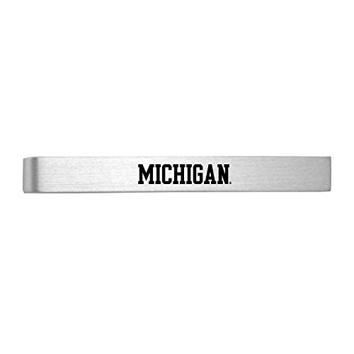 University of Michigan-Brushed Metal Tie Clip-Silver