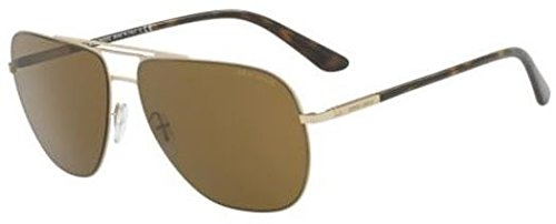 Giorgio Armani Mens Sunglasses Gold Matte/Brown Metal - Non-Polarized - - Gold Armani Sunglasses