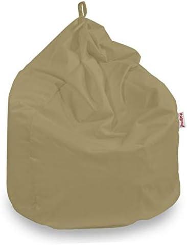 Pouf Sacco L, Beige Puf Tessuto Peluche 14 Colori! Puff Imbottito Italpouf Pouf Sacco Bambini L Poltrona Sacco Morbido Tessuto Velluto 77 /Ø x 90 cm Pouf A Sacco Sfoderabile