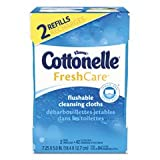 Cottonelle Fresh Care Flushable Cleansing Cloths Refills 84 ea - Packaging May Vary (Pack of 8)