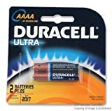 Duracell Ultra Power Alkaline Batteries w/ Duralock Power Preserve Technology, AAAA, 2/Pk