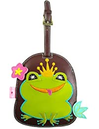 Acme FLUFF Animal FUNKY Luggage Tag Green FROG w/ Crown cute gift clip on
