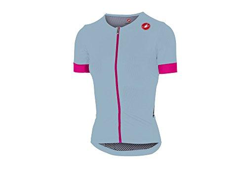 Castelli Women's Free Speed Tri Race Jersey (Pale Blue, Large)