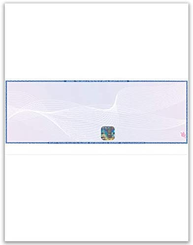 EZ Checks Premium Blank Hologram High Security Laser Check Stock | 500 Sheets | (Blue/Maroon, Check in Middle)