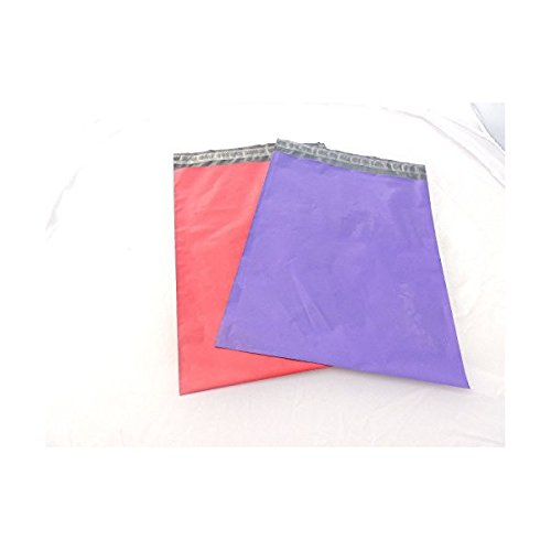 50 -6x9'' Pink & Purple Flat Poly Shipping Mailers by generic brand