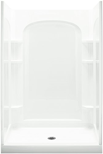 Sterling Shower Module - STERLING 72220106-0 Ensemble 34-Inch x 48-Inch x 75-3/4-Inch Shower Kit with Age in Place Backers, White