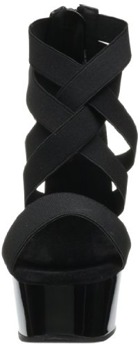 Pleaser Delight 669 - Sandalias Mujer Negro (Negro (Blk Elasticated Band/Blk))