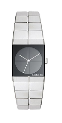 Jacob Jensen 220 Icon Series Black Dial Stainless Steel Women's Watch