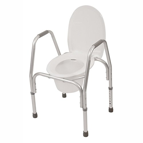 Pcp Raised Toilet Seat with Safety Frame Bedside Commode and Elevated, ()