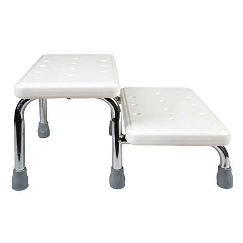 Bath Safety Steps - 2 Stairs - Steel Frame Non-Slip Rubber Feet by SUPPORT PLUS (Image #2)