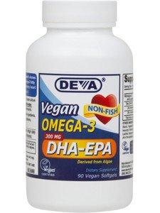 DEVA VEGAN VITAMINS OMEGA-3,DHA-EPA,VEGAN,H/P, 90 SGEL