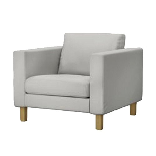 Replace Cover for IKEA Karlstad Chair, Karlstad Armchair Cover, 100% Cotton Fabric, Durable and look elegant (Light Gray) by Custom made covers by Linda color (Image #2)