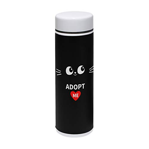 Bush August Travel Mug Adopt Me Heart Love Cat Thermos Food Grade 304 Water Bottle Insulation Cup Leak Proof No Spill Lid Thermoses 220 ml Traveler -
