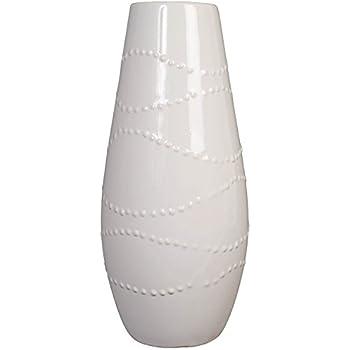 Amazon Hosleys 12 High White Textured Ceramic Vase Ideal