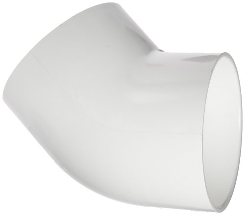 Spears 417 Series PVC Pipe Fitting, 45 Degree Elbow, Schedule 40, 4