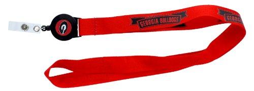 aminco NCAA Georgia Bulldogs Badge Reel Lanyard