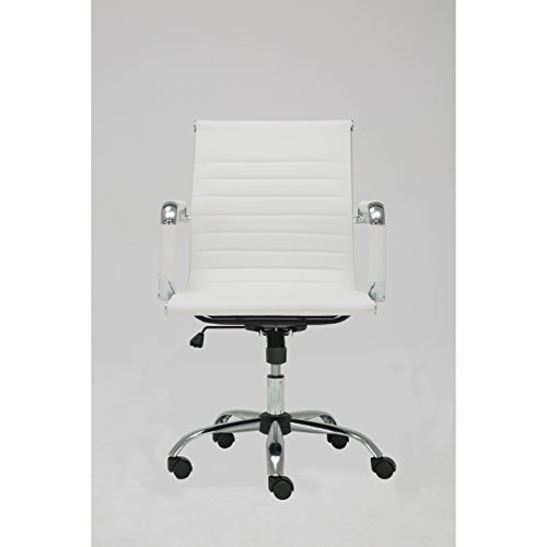 WINPORT MID-BACK SWIVEL CONFERENCE OFFICE CHAIR MZNTB-1963 (WHITE)