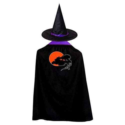 Halloween Children Costume Bonsai Tree Wizard Witch Cloak Cape Robe And Hat Set ()