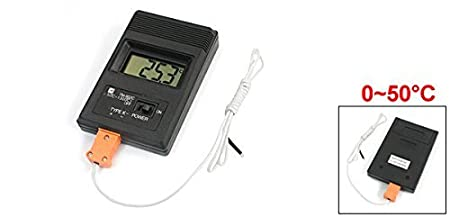 Amazon.com : eDealMax rettangolare misurazione 0-50C numero arabo Termometro digitale : Beauty