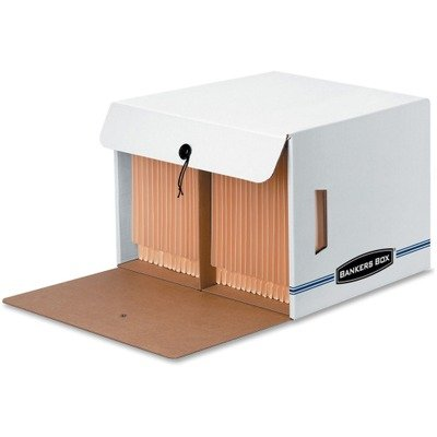 Bankers Boxamp;reg; Side-Tab Files, Letter, 15-1/4 x 13-1/2 x 10-3/4, White/Blue, 12/Ctn by Bankers Box