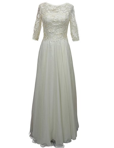 HarveyBridal Half Sleeves Chiffon Lace Mother Of The Bridal Dress Mother Of The Groom DressesPlus Size