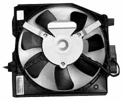 Replacement Mazda Fan Shroud - TYC 610500 Mazda Protege Replacement Condenser Cooling Fan Assembly